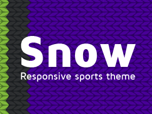 Ski and snowboard theme for Wordpress