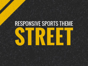 Street sport theme for Wordpress