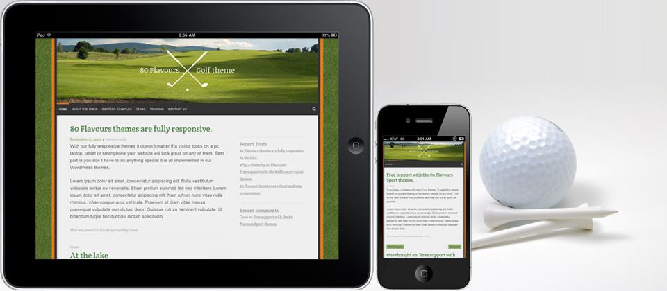 GOLF COURSE responsive Wordpress theme for golfers.