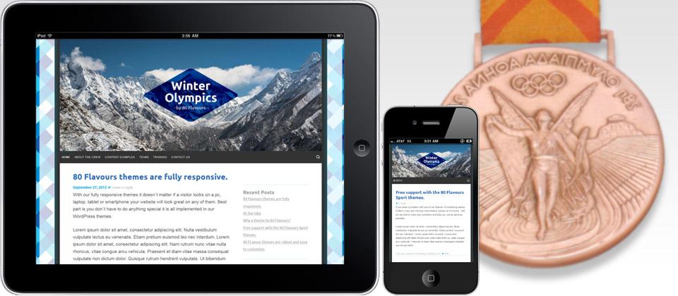 responsive wordpress sport theme winter Olympics